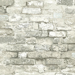 Modern Art White Brick Alley Wallpaper