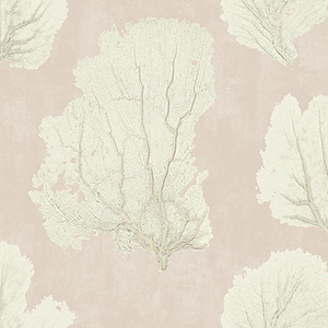 Aviva Stanoff Pink  Coral Couture Wallpaper
