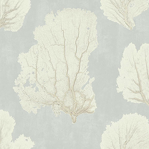 Aviva Stanoff Grey Coral Couture Wallpaper
