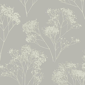 Aviva Stanoff Taupe  Boho Bouquet Wallpaper