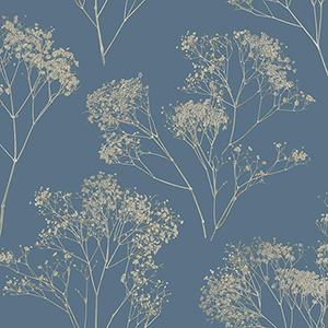 Aviva Stanoff Navy Boho Bouquet Wallpaper