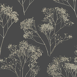 Aviva Stanoff Grey Boho Bouquet Wallpaper