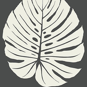 Aviva Stanoff Black Bali Leaf Wallpaper