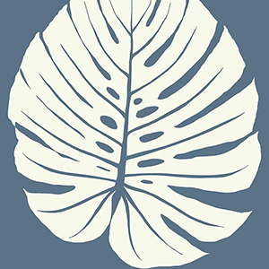 Aviva Stanoff Navy Bali Leaf Wallpaper