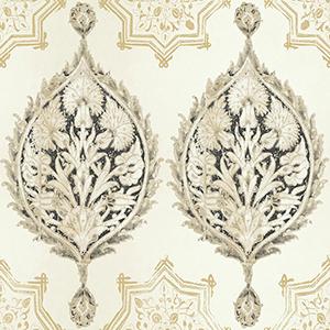 Patina Vie Black and Cream Wallpaper