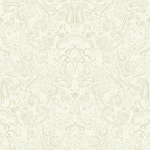 Patina Vie Beige Paisley Wallpaper