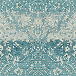 Patina Vie Cerulean Blue Damask Wallpaper