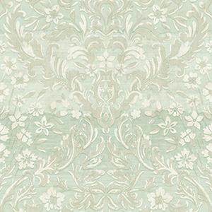 Patina Vie Mint Green Damask Wallpaper