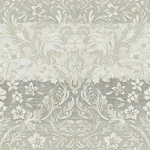 Patina Vie Beige and Gray Damask Wallpaper