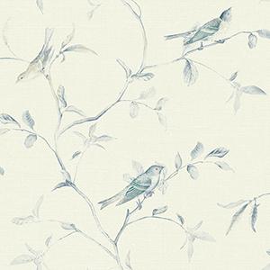 Patina Vie Navy Blue Wallpaper
