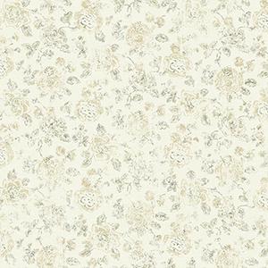 Patina Vie Neutral Floral Wallpaper