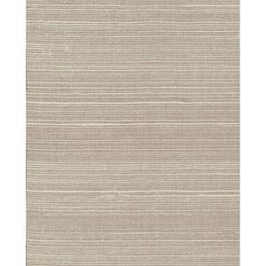 Grasscloth II Plain Grass Sisal White Wallpaper