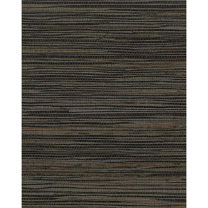 Grasscloth II Inked Grass Black Wallpaper