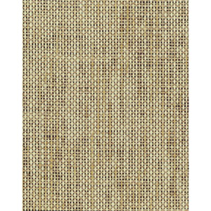 Grasscloth II Woven Crosshatch Ramie Beige Wallpaper