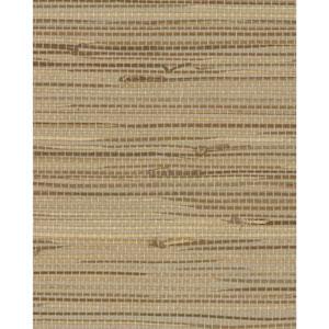 Grasscloth II Wide Knotted Grass Beige Wallpaper