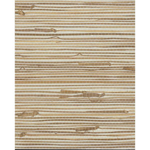 Grasscloth II Wide Knotted Grass Metallic Wallpaper
