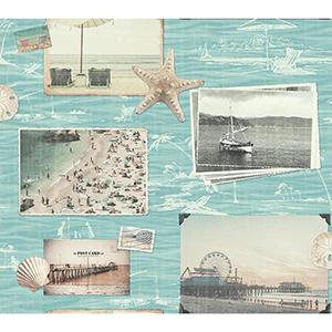 Snapshots Turquoise Wallpaper