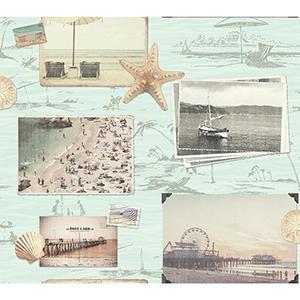 Snapshots Aqua Wallpaper
