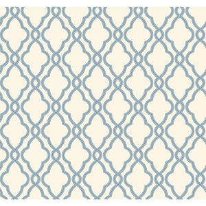 Waverly Classics Delft Blue and Pure White Wallpaper