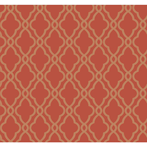 Waverly Classics Tomato and Caramel Wallpaper