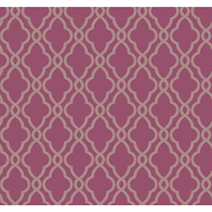 Waverly Classics Grape and Taupe Wallpaper