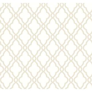 Waverly Classics Cream and Tan Wallpaper
