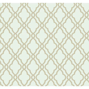 Waverly Classics Sea Foam Green and Cocoa Wallpaper