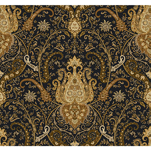 Waverly Classics Black, Amber, Rust, Ecru and Brown Wallpaper