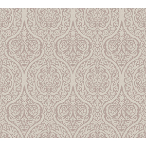 Waverly Classics Lilac and Rosy Gray Wallpaper