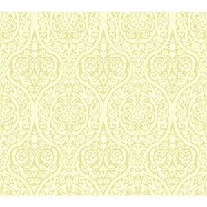 Waverly Classics Kiwi and White Asparagus Wallpaper
