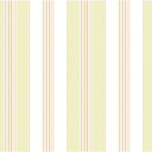 Waverly Classics Cream, Pale Lime, Pink and Taupe Wallpaper
