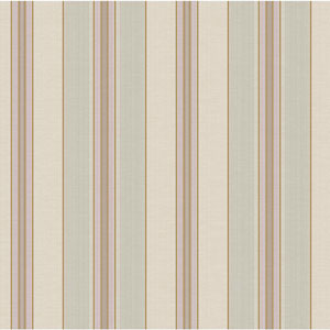 Waverly Classics Beige, Gray-Green, Caramel, Taupe and Wisteria Wallpaper
