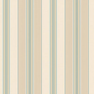 Waverly Classics Beige, Tan, Aqua, Teal, Amber and White Wallpaper