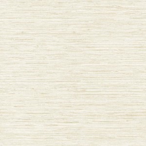 Nautical Living White and Beige Horizontal Grass cloth Wallpaper