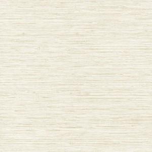 Nautical Living White and Beige Horizontal Grass cloth Wallpaper