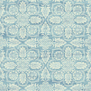 Waverly Classics I Curators Gem Removable Blue and White Wallpaper