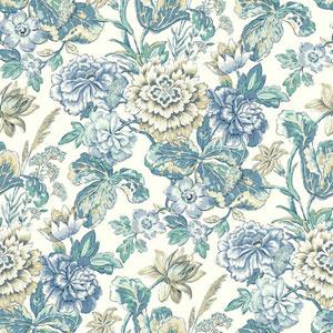 Waverly Classics I Sonnet Sublime Removable Blue Wallpaper