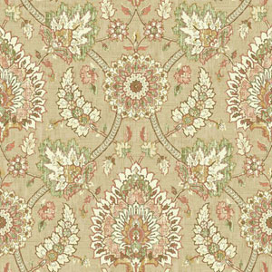 Waverly Classics I Clifton Hall Removable Brown Wallpaper
