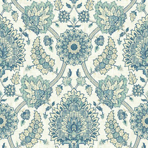 Waverly Classics I Clifton Hall Removable Blue Wallpaper