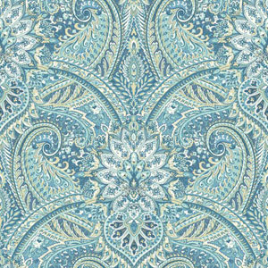 Waverly Classics I Swept Away Removable Blue Wallpaper