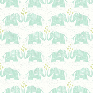Elephants Love Green Wallpaper