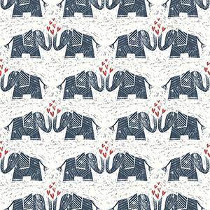 Elephants Love Blue Wallpaper
