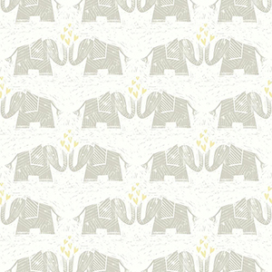 Elephants Love Brown Wallpaper