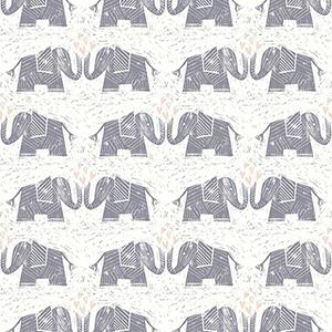 Elephants Love Purple Wallpaper