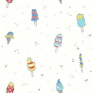 Ice Cream Blue Wallpaper