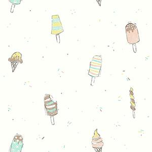 Ice Cream Blue Wallpaper