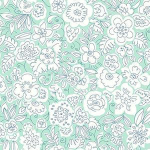 Doodle Garden Green Wallpaper