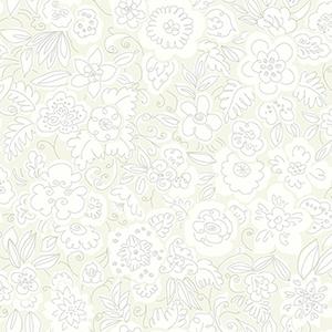 Doodle Garden White/Off White Wallpaper