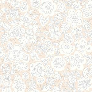 Doodle Garden Pink Wallpaper