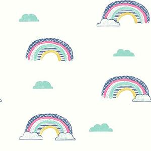 Chasing Rainbows Blue Wallpaper